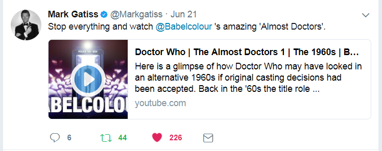 Mark Gatiss tweet